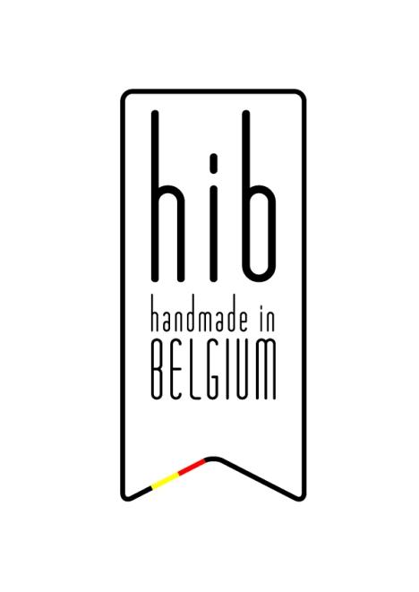 Trots op het HANDMADE IN BELGIUM logo!